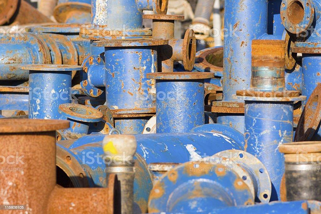 Blue valves royalty-free stock photo