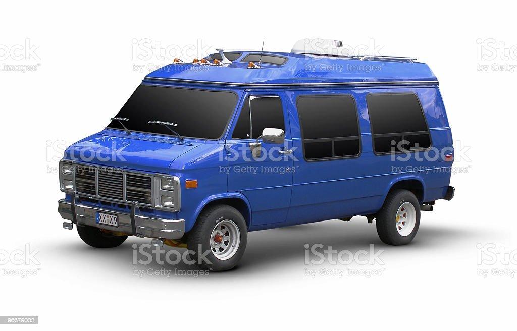 Blue Van royalty-free stock photo