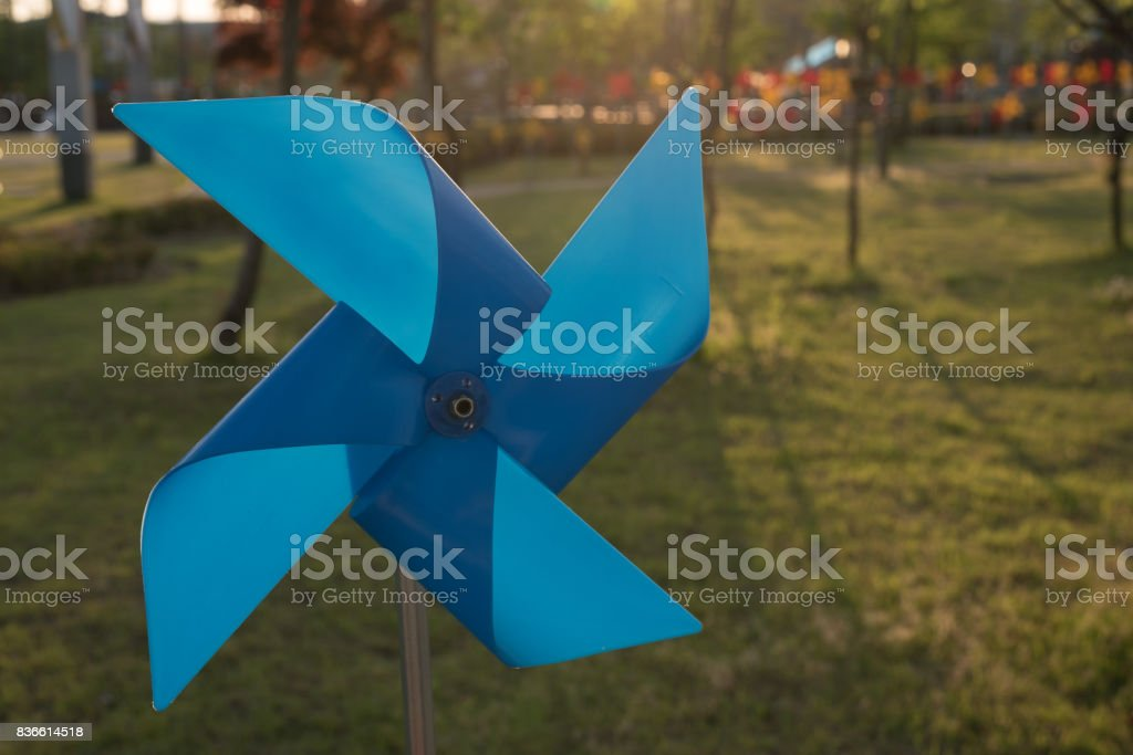 Blue vane stock photo