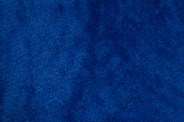 Blue velvet fabric background texture stock photo