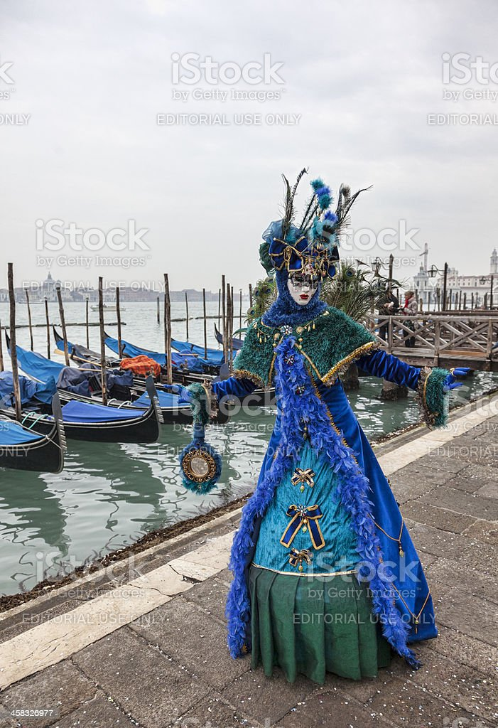 Blue Venetian Disguise royalty-free stock photo