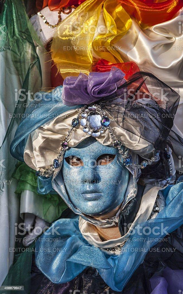 Blue Venetian Mask royalty-free stock photo
