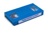 istock Blue VHS Tape 1253762989