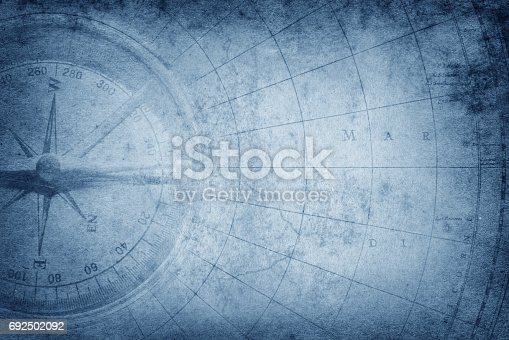 Survival, exploration and nautical theme grunge background.