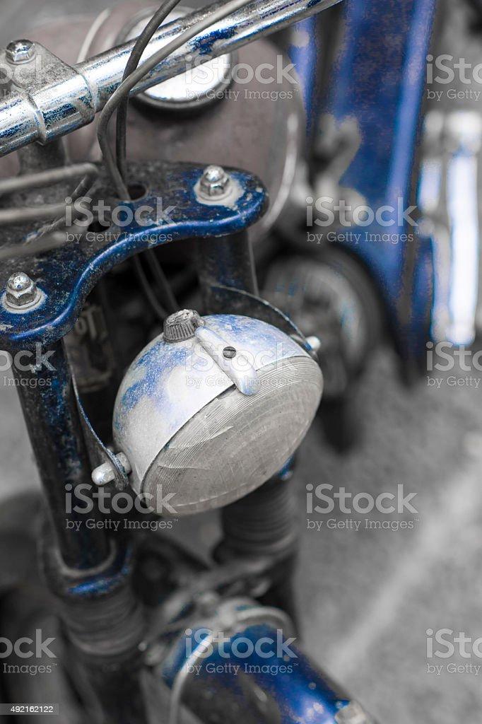 Blue Vintage Bike royalty-free stock photo