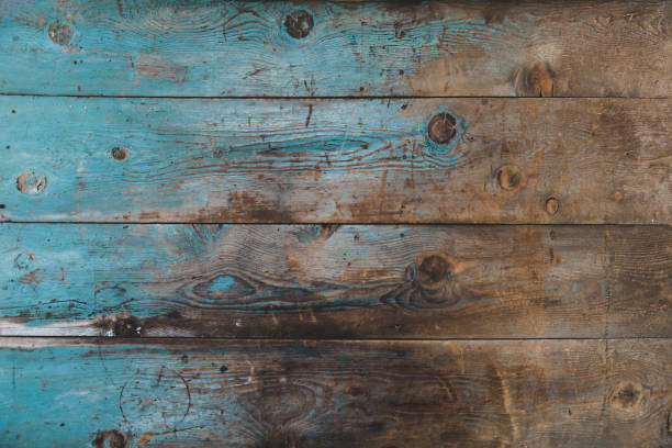 Blue vintage wood texture background Blue Yellow  old wood background weathered stock pictures, royalty-free photos & images