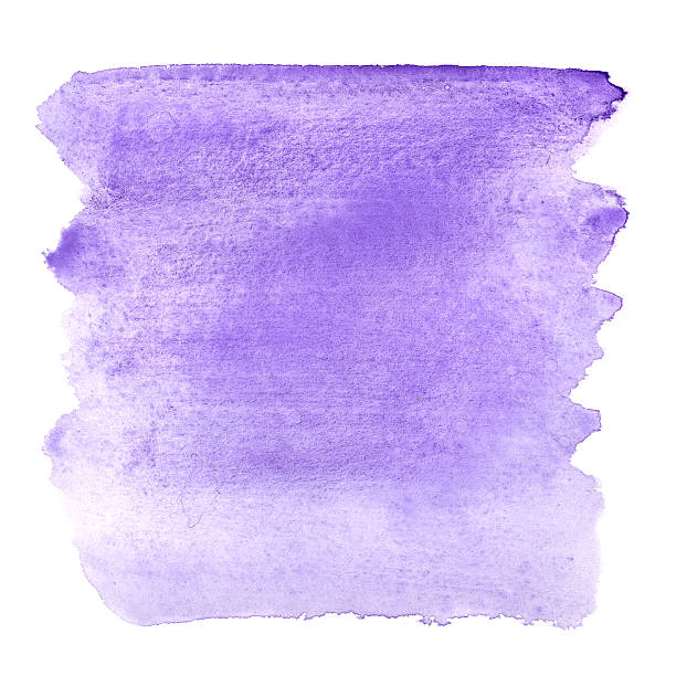 blue violet brush strokes - purple watercolor stock photos and pictures