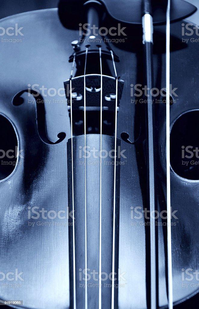 Blue violin royalty-free stock photo