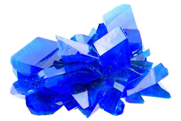 blue vitriol mineral blue vitriol mineral isolated on the white background cobalt sulfate stock pictures, royalty-free photos & images