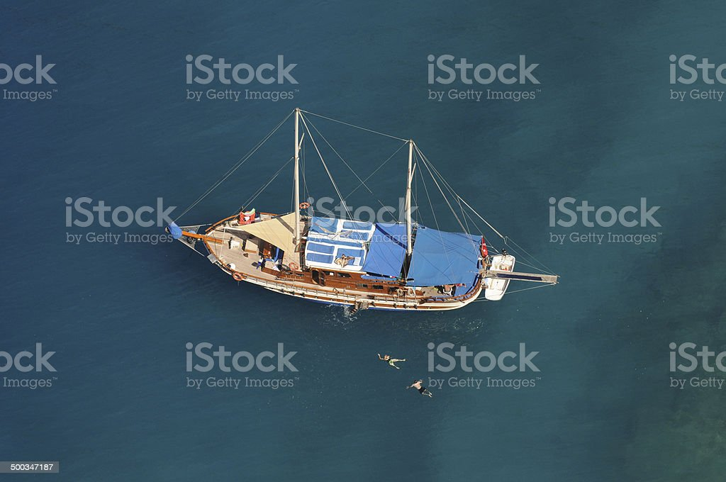 Blue Voyage royalty-free stock photo
