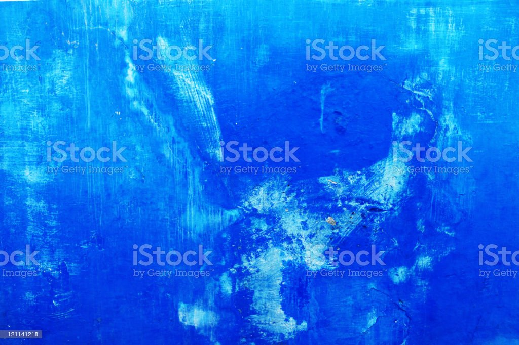 Blue wall in