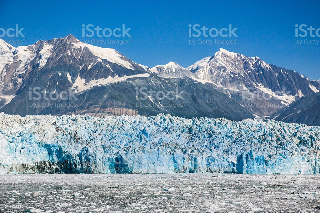 Blue Wall of Ice stock photo