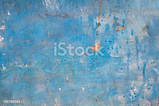 Heart Symbol on Old Blue Wall