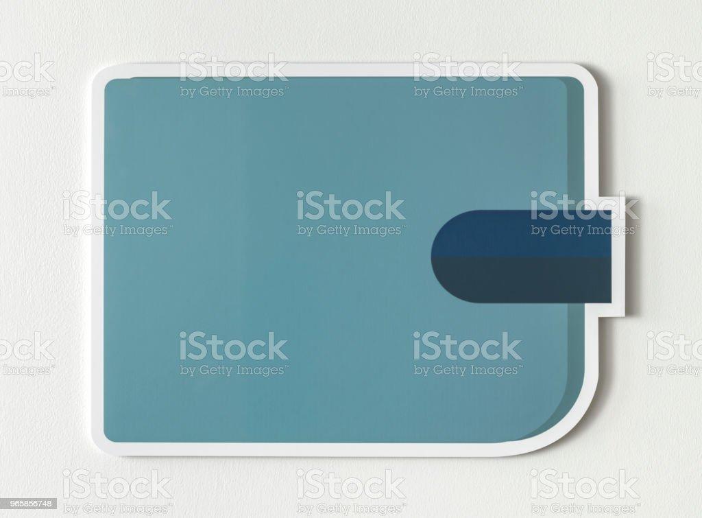 Blauwe portefeuille financiële concept pictogram - Royalty-free Armoede Stockfoto