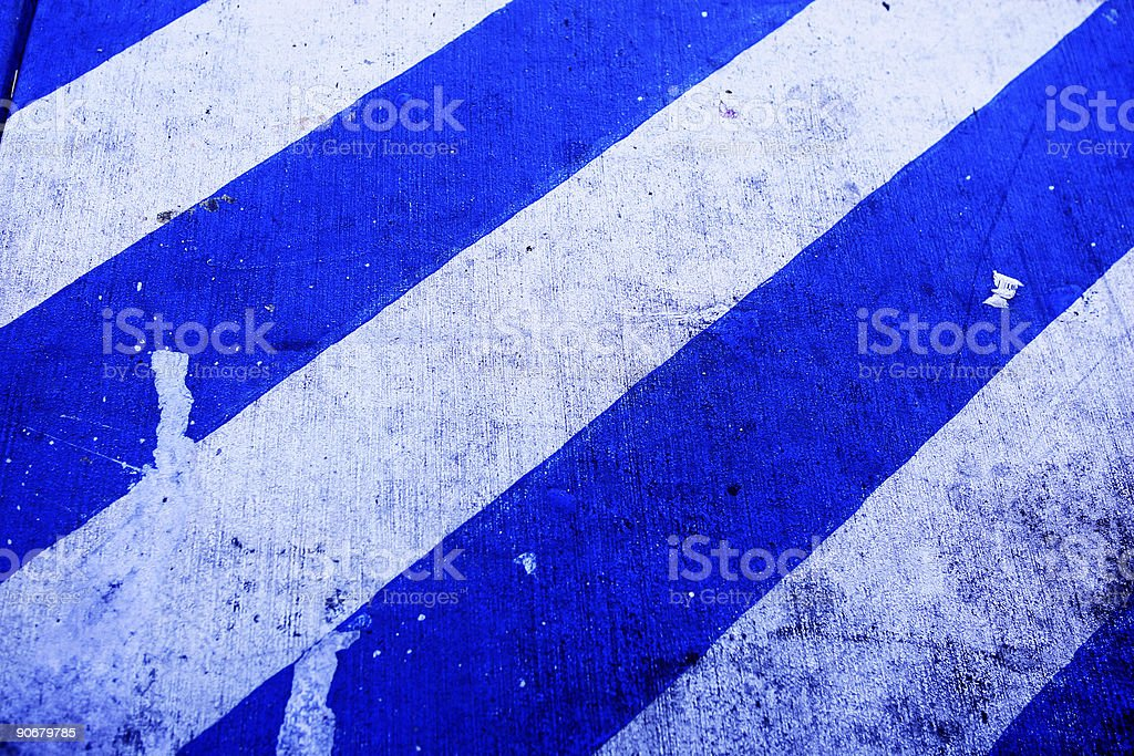 Blue Warning royalty-free stock photo