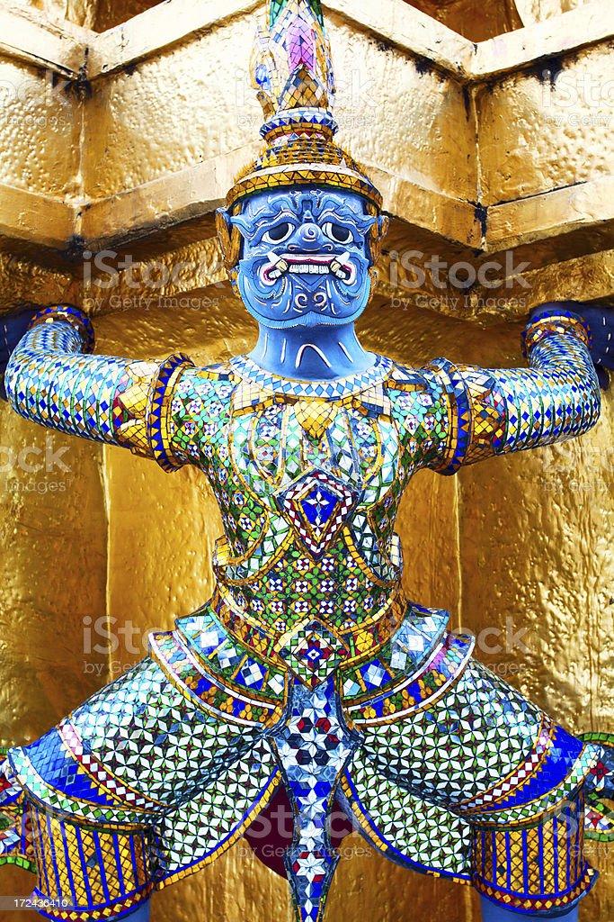 Blue warrior stock photo