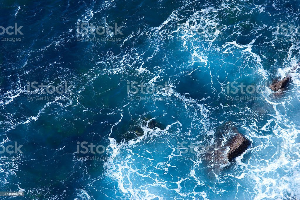 Blue Water Arial View royalty-free stock photo