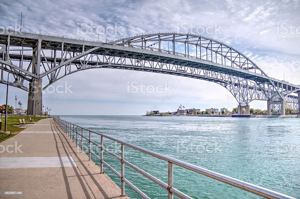 Blue Water Bridge stock photo