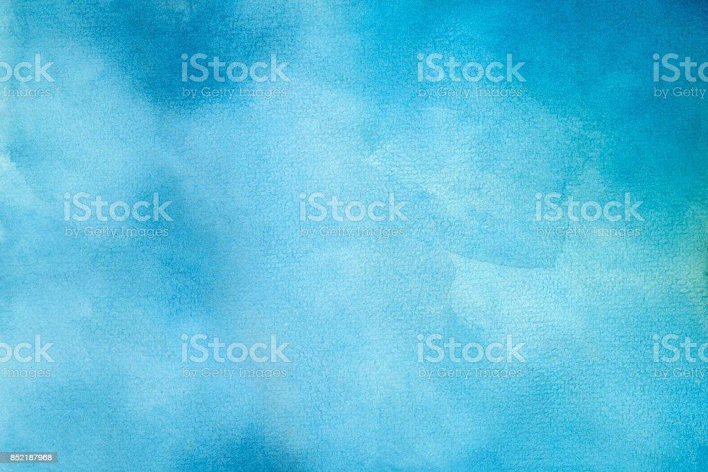 Blue Water Color Background - Zbiór zdjęć royalty-free (Abstrakcja)