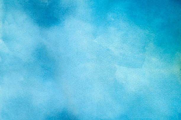 Blue Water Color Background - foto stock