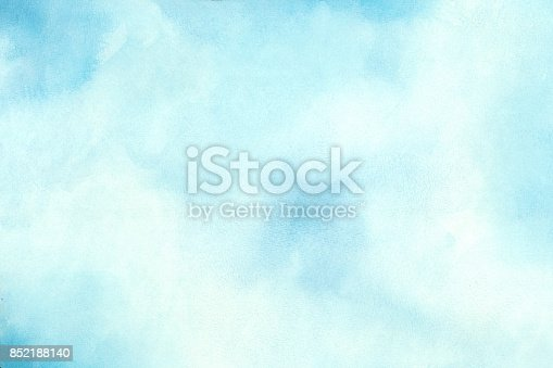 852187968 istock photo Blue Water Color Background 852188140