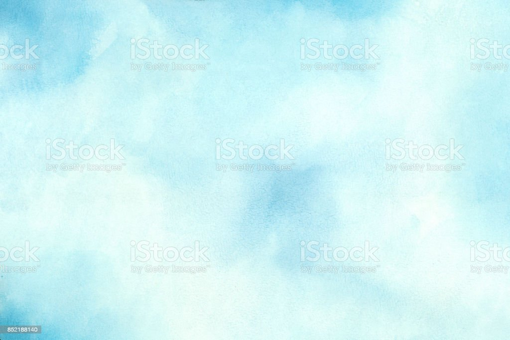 Blue Water Color Background stock photo