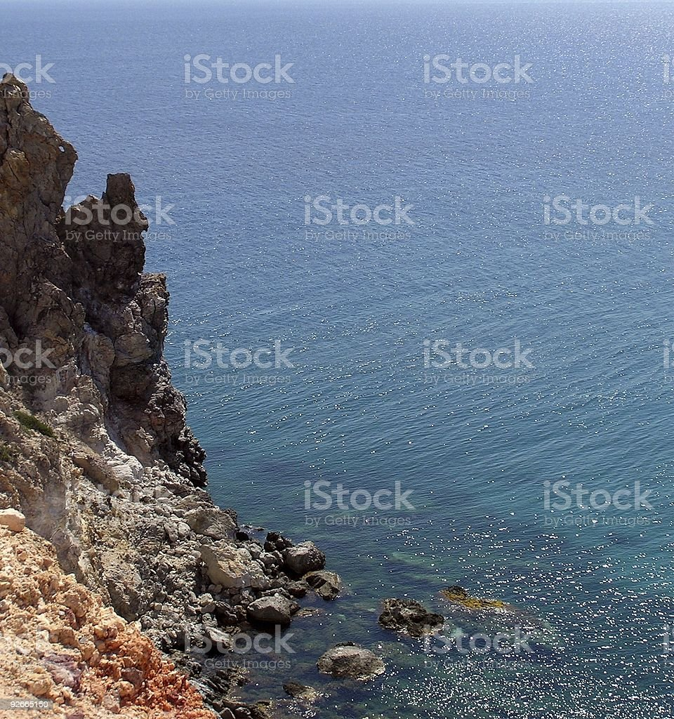 blue water colorful rocks royalty-free stock photo