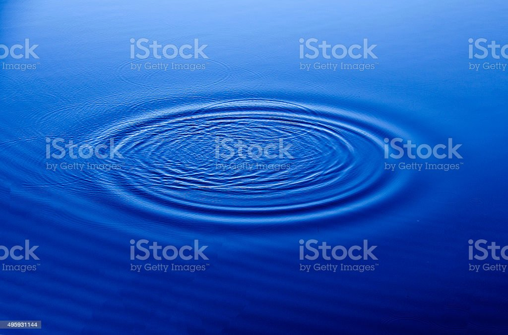 blue water drop stock photo