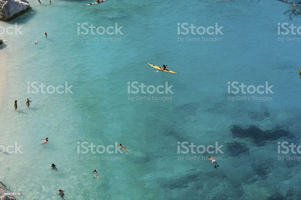 Blue water in Mediterranean sea royalty-free stock photo
