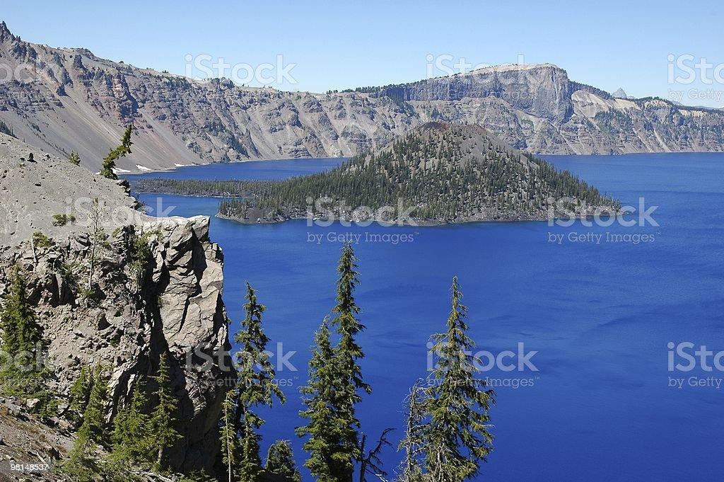 푸른 호수, 산 royalty-free 스톡 사진