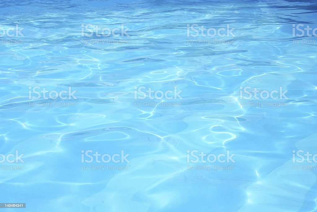Blue water reflections in waves stock photo