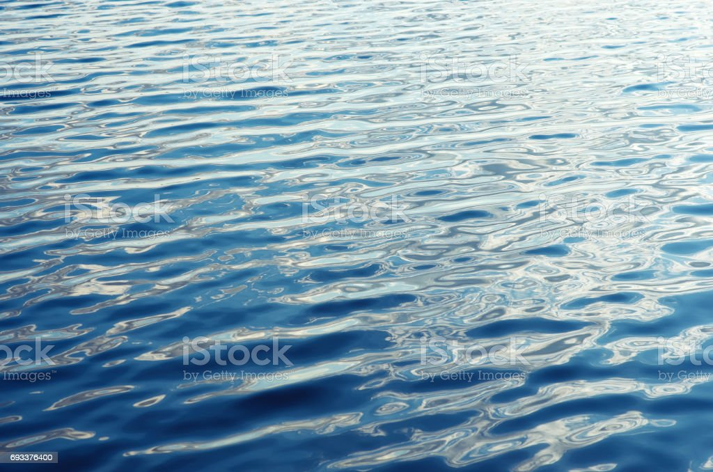 Blue water ripple surface background stock photo