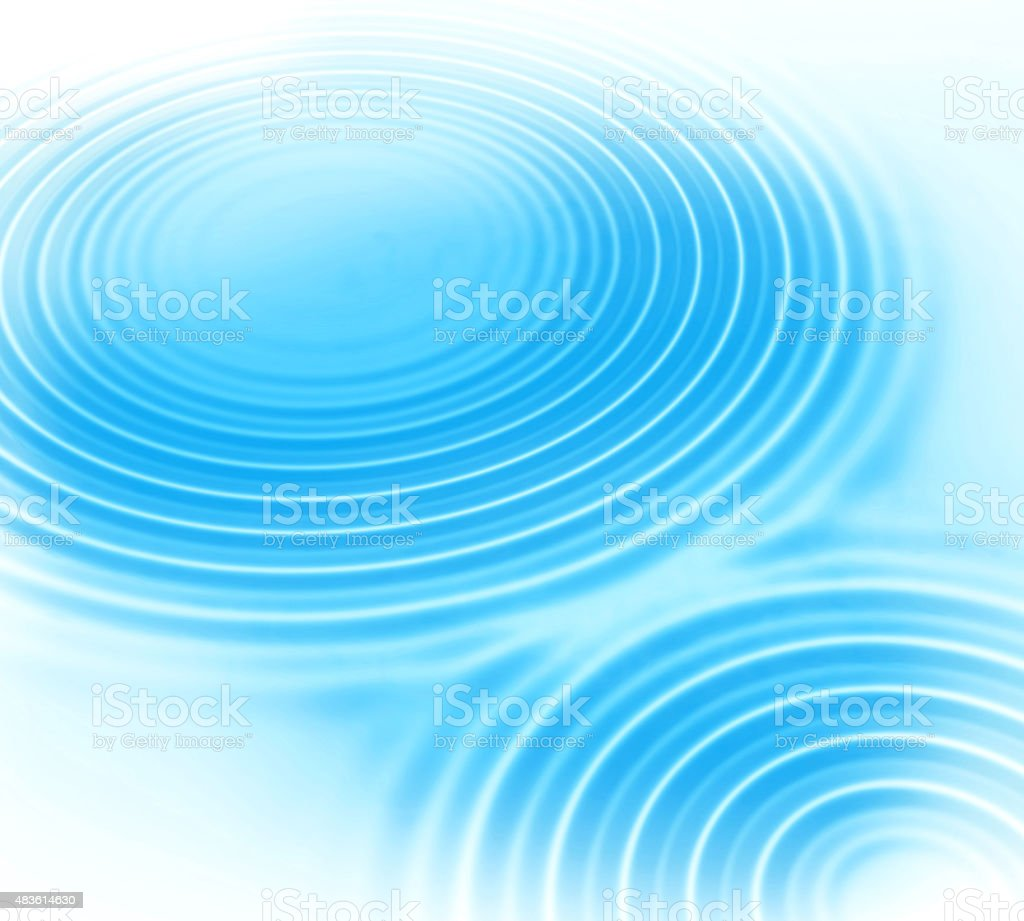 Blue water ripples abstract background stock photo