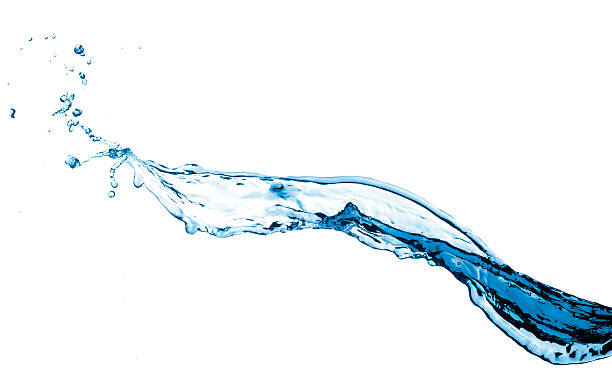 blue water splash - flowing stock pictures, royalty-free photos & images