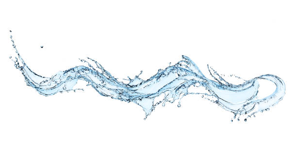 blue water splash - splashing stock photos and pictures