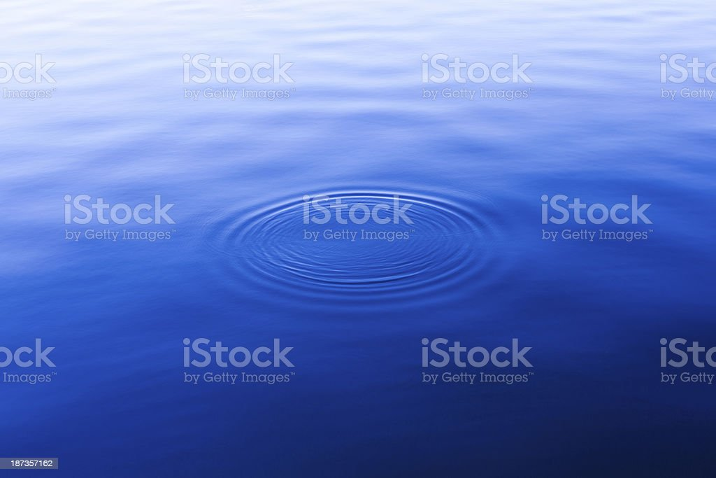 Blue Water Surface Background stock photo