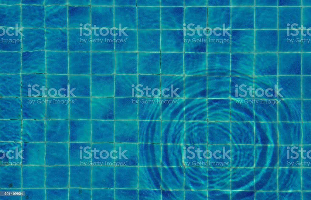 blue water swimming pool pattern. top view Lizenzfreies stock-foto