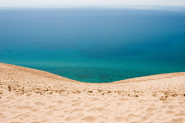 blue water view - lake michigan stock pictures, royalty-free photos & images