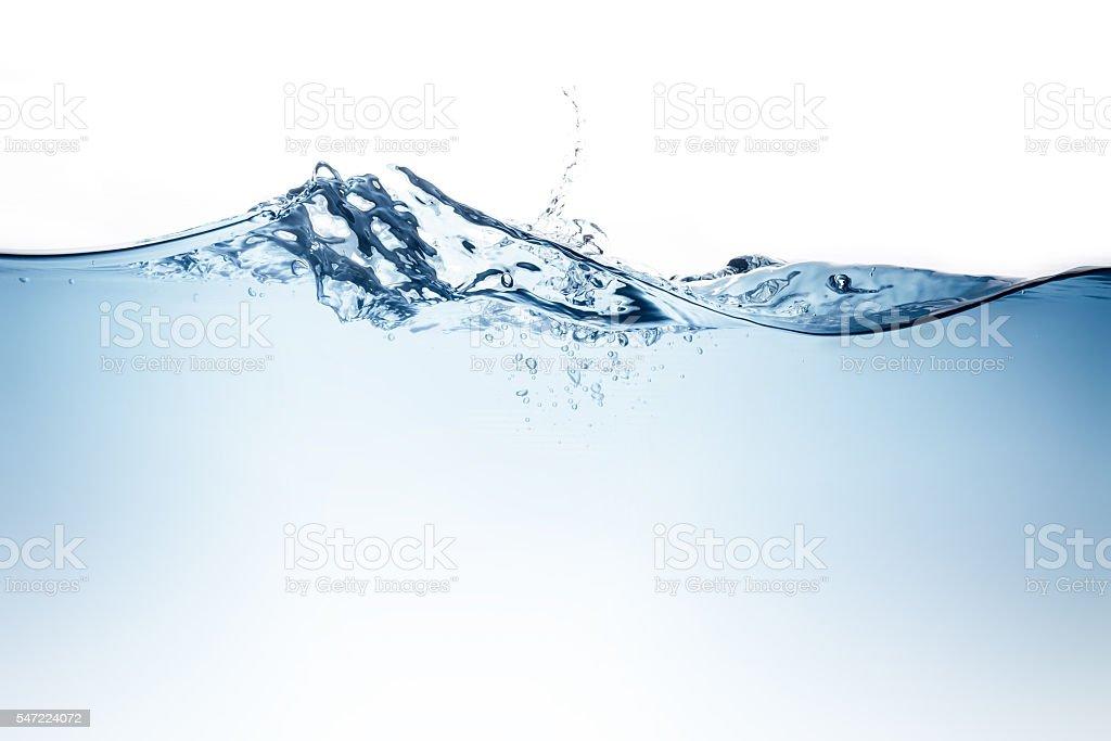Blau Wasser wave mit Blasen zu sauberem Trinkwasser – Foto
