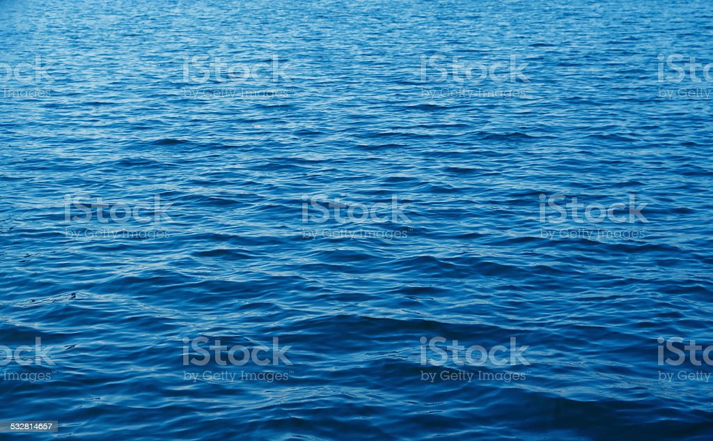 Blue Water waves texture background stock photo