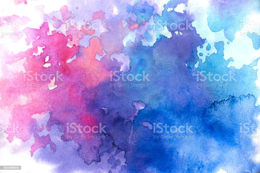 Blue watercolor abstract background stock photo