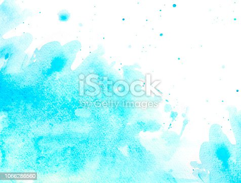 911585920 istock photo Blue watercolor background - abstract ocean and waves 1066286560