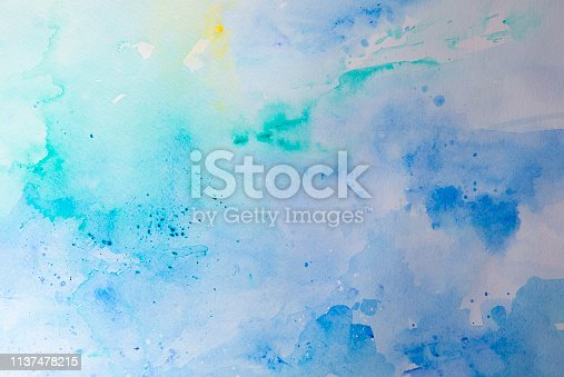 911585920 istock photo Blue watercolor background - abstract ocean 1137478215
