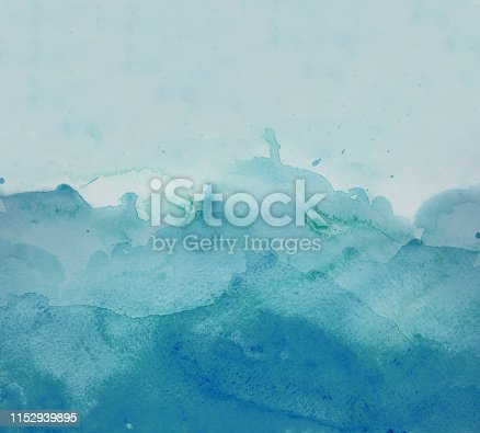 911585920 istock photo Blue watercolor background - abstract ocean 1152939895