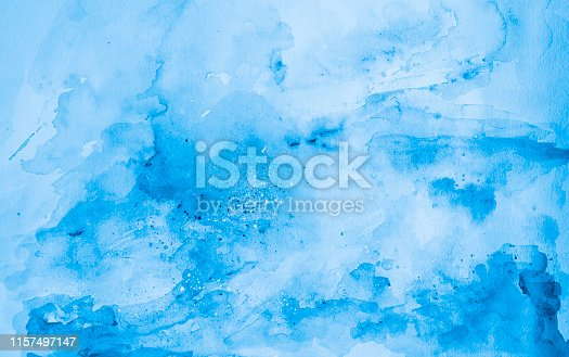 istock Blue watercolor background - abstract ocean 1157497147