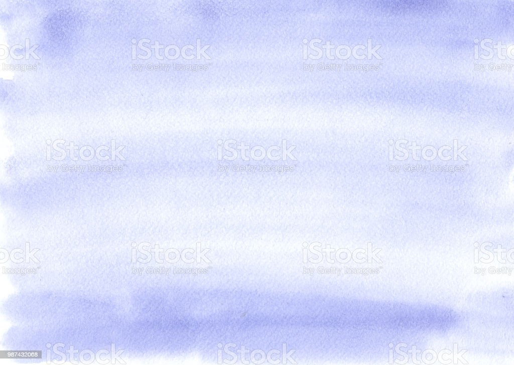 Blue watercolor background is almost uniform, with beautiful stripes from the brush. Excellent substrate or template for any design. stock photo