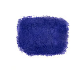 Blue watercolor bright squared background texture isolated on white
