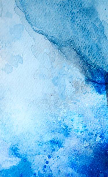 Blauer Aquarell Hintergrund – Foto