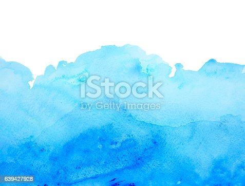 istock Blue watercolor background 639427928