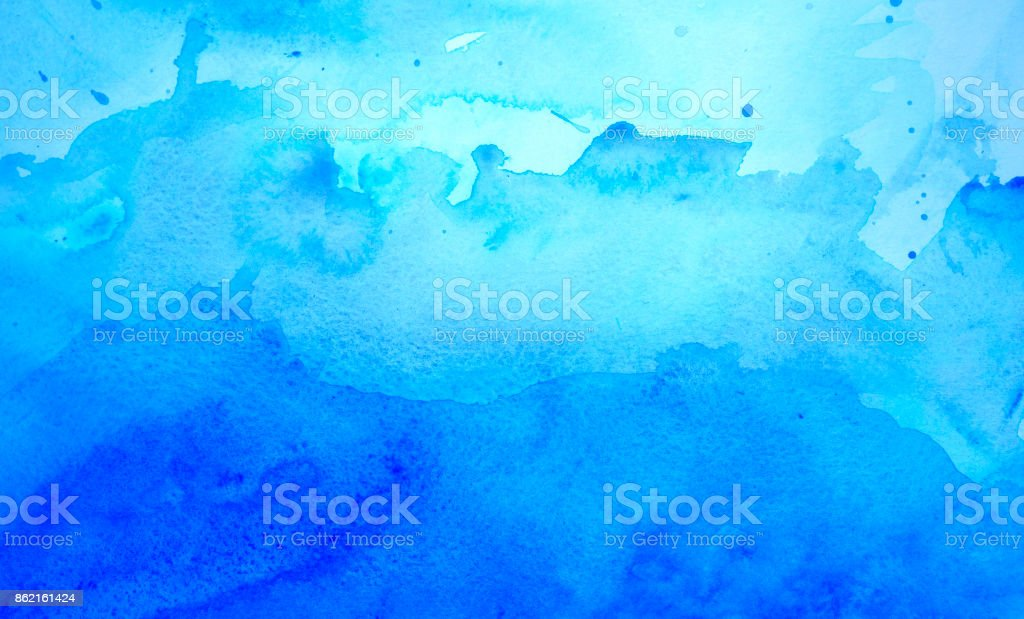 Fond aquarelle bleu - Photo